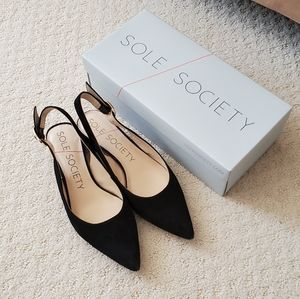 Sole Society Mariol slingback pointed toe shoes 8